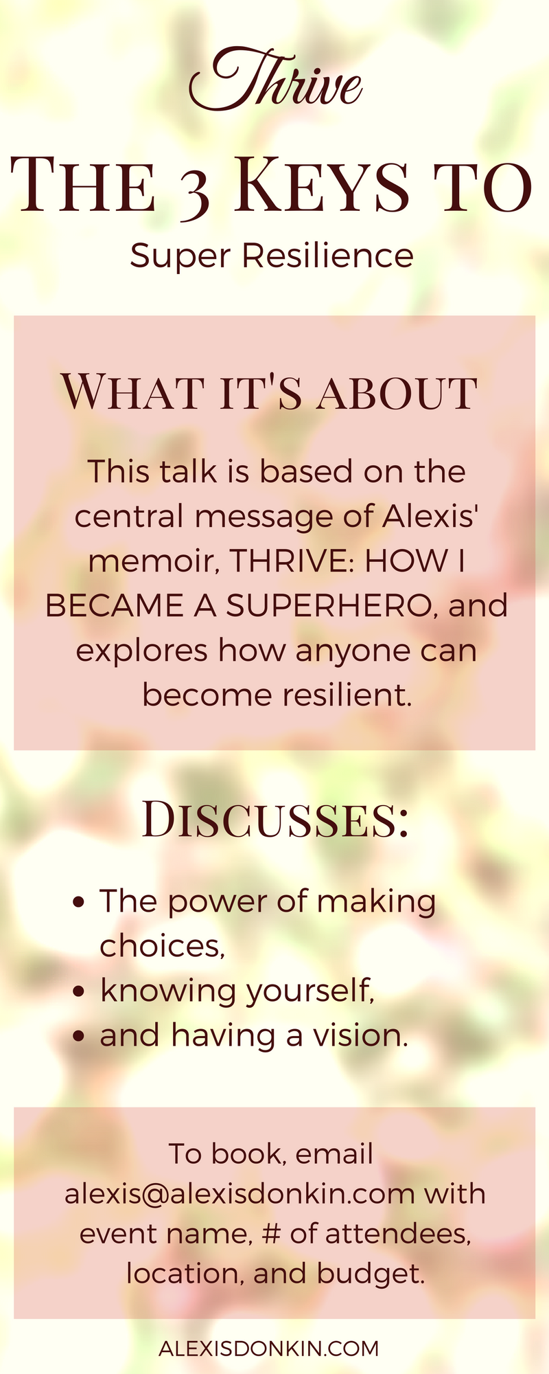 Thrive: The 3 Keys to Super Resilience