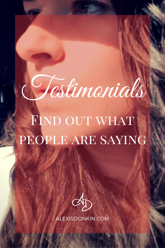 Testimonials - Find out what people are saying!