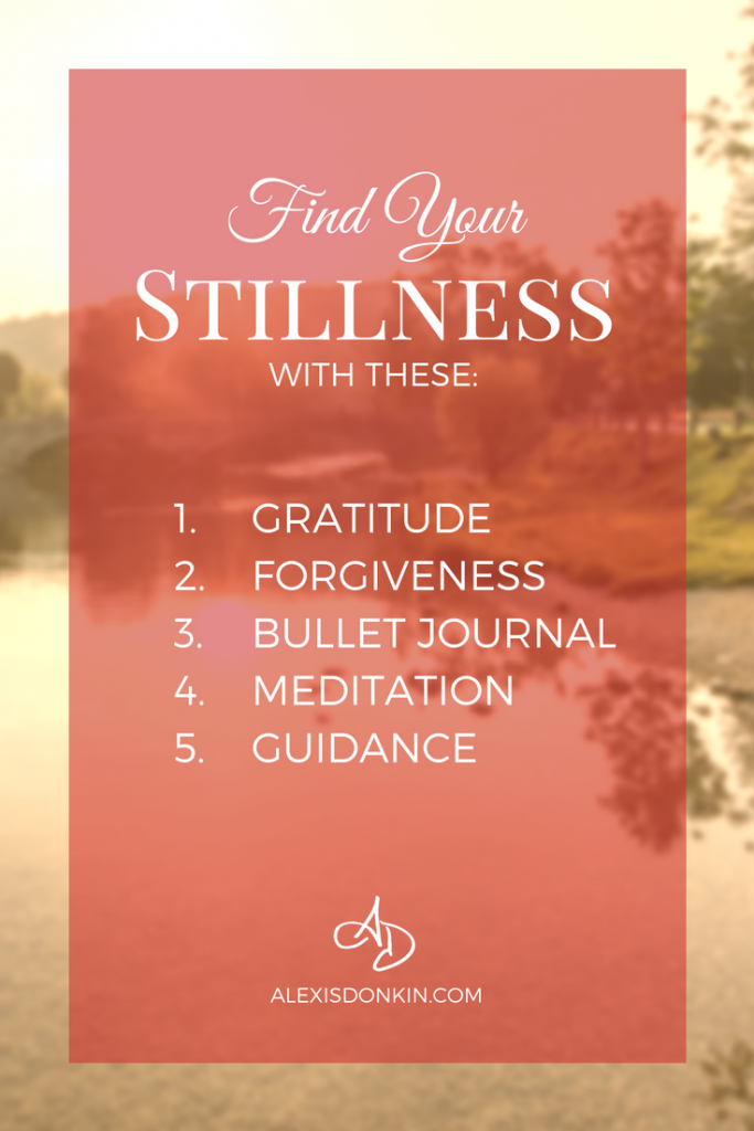 Find stillness tipographic