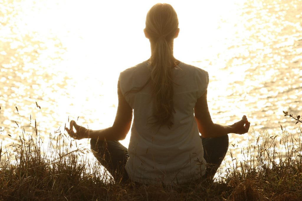 woman meditating, intuitive services preparation