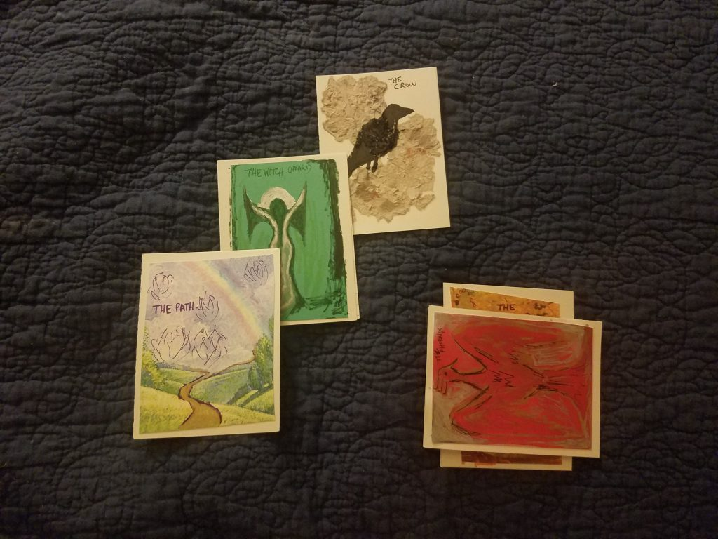A sample reading using my handmade oracle deck