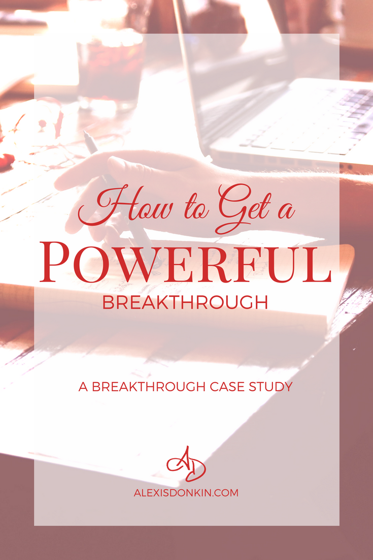 How to Get a Powerful Breakthrough - A Breakthrough Case Study